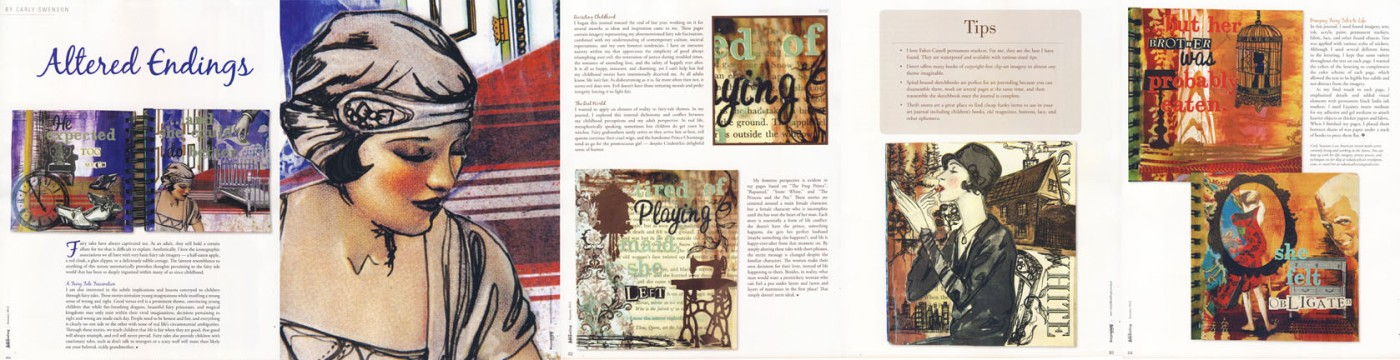 Altered Endings feature in Somerset Art Journaling, 2012