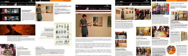 Angra Museum monthly/weekly newsletters (March/April 2013)