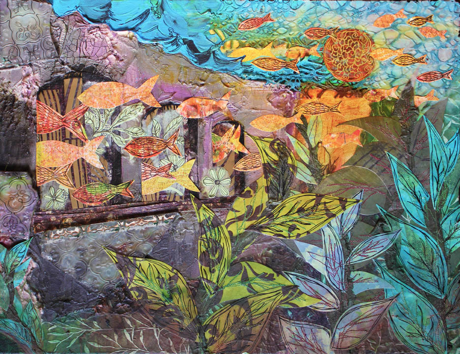 Terceira II, 14in x 18in mixed media collage on canvas, 2011