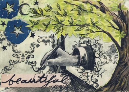 Inside/Outside VIII, art postcard, 2011