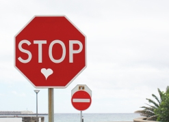 Heart Stop Sign, photo/copyright: Carly Swenson 2011