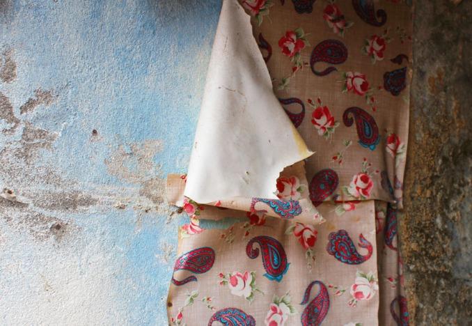 peeling wallpaper in an abandoned house, 2011