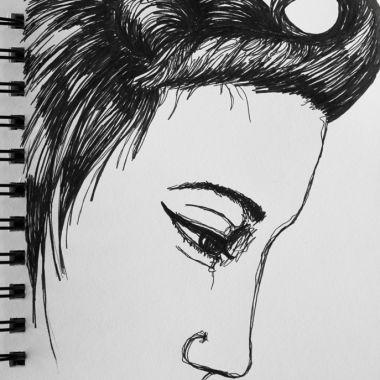 no. 21: female profile