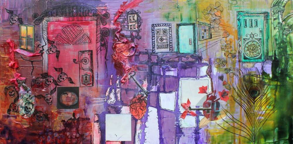 You can go your way, and I can go my way, 18in x 36in, mixed media on canvas, 2012