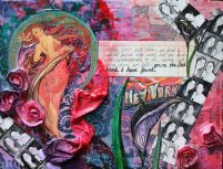 With You in My Life..., 11in x 14in, mixed media collage on canvas, 2012