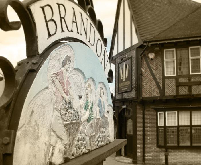 Brandon village sign, 2012