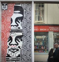 Obey street art in Norwich, 2012