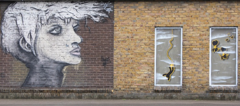 Wall street art created by Blight Society Art II, Cambridge 2012
