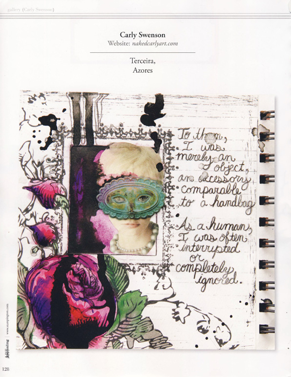 Somerset Art Journaling magazine, Spring 2012 (page 128)