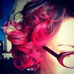 Me with my pink curls. 2012