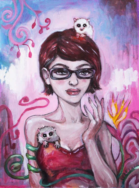 Holographic Karlisa and the Spirit Lemurs, by Sara Syverhus 2012