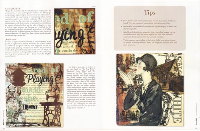 Somerset Art Journaling, pages 82 & 83