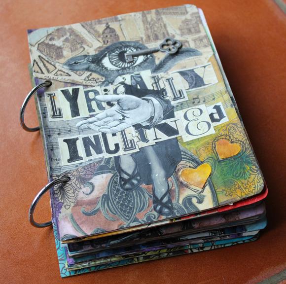 Lyrically Inclined, visual journal sketchbook, 2012