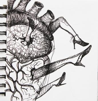 sketch no. 285-concept sketch for Aphrodite, 2012