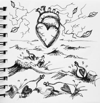 sketch no. 287-concept sketch for Aphrodite, 2012