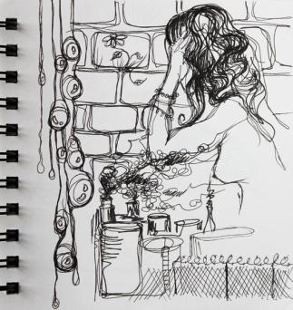 sketch no. 294-concept sketch for Persephone, 2012
