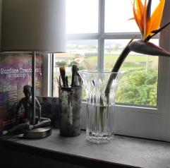 Art studio, window view