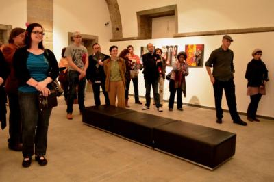 Nice people listening to me talk about art. (photo by: Paulo Lopes Lobão 2013)