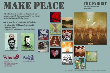 Peace Project Exhibition marketing for the viewing in Los Angeles. 2012