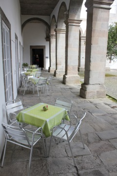 Courtyard seating--
