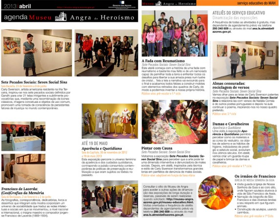 Apr, 2013: MAH Event Newsletter Pages 1 & 4
