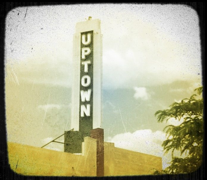 Uptown theatre sign.