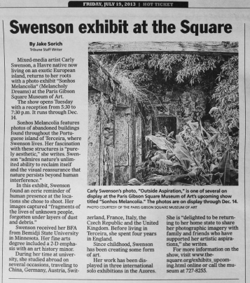 Great Falls Tribune, 7/19/2013 (Article by Jake Sorich)