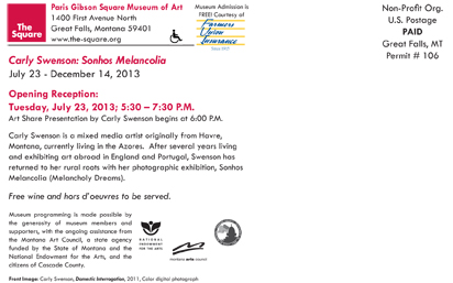 Exhibition Opening Announcement Card (back)