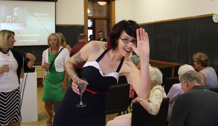 Me being silly before my speech (I have water in my wine glass.)