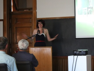 Me speaking--from what I have been told, it was a delightful mixture of genuine, charming and awkward.