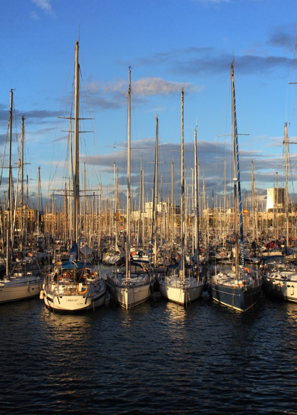 Sailboats at the marina, Barcelona 2013