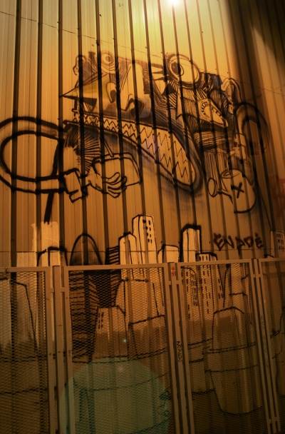 Street art at night, Barcelona 2013