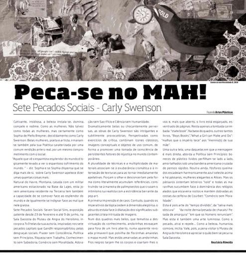 Fazendo nº86, Fazendo Artes Plásticas Peca-se no MAH