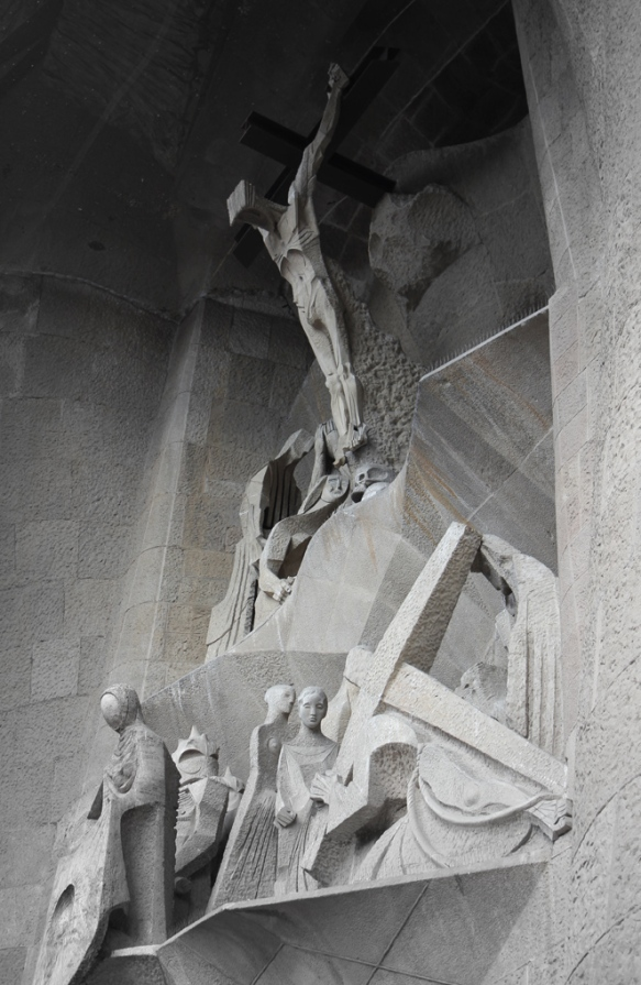 The Passion (west) facade, La Sangrada Familia, Barcelona 2013