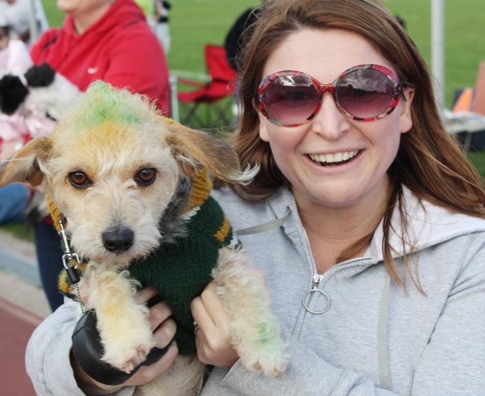 Millie won best dressed with her Green Bay spirit!