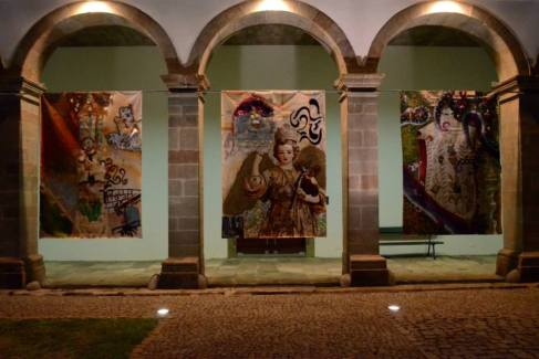 Their final mixed media banners on display at the Angra Museum, 2013 Photo/copyright: Angra Museum