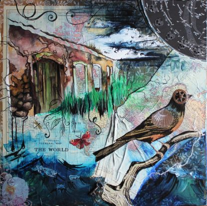 ...the beauty of what has been left behind. 24in x 24in, mixed media collage, 2013