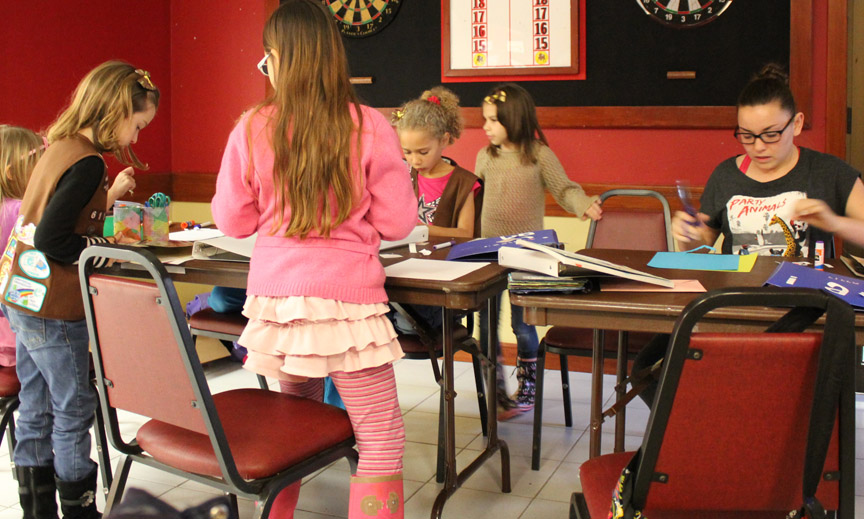 Lajes Brownies working on their art projects. Photo by Megan R.W. 2014