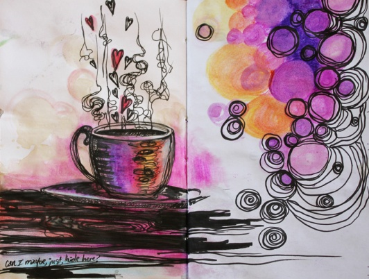 Coffee drips art play--