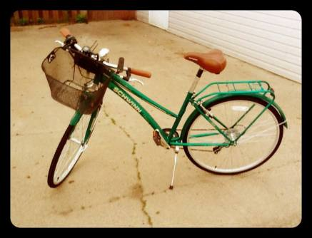 I have a new bike.  It is green.