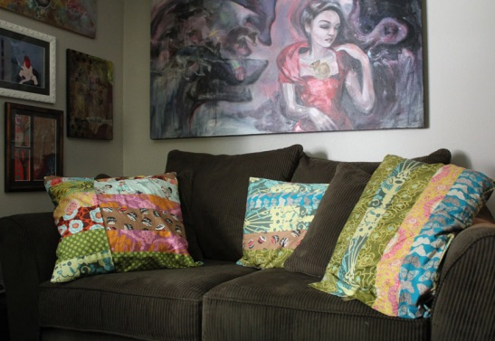 I finished my throw pillow covers.