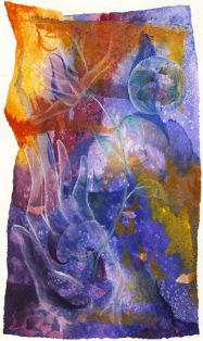 After Life, watercolor, 2001