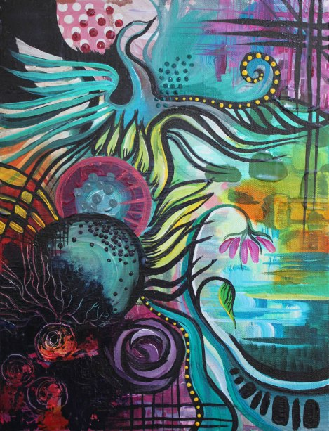 Don't think I'm pushing you away, size, acrylic on canvas, 2014