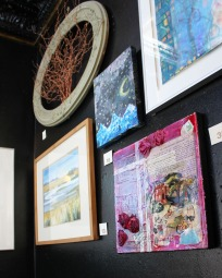 My work on display with others at the Urban Stampede. January 2015