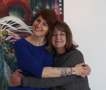 My lovely mama and me at my exhibition.